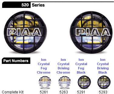 PIAA Black 520 Series Ion Crystal