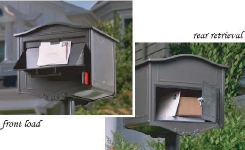 Rear Access Locking Mailbox