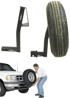 Universal Hitch Mounted Spare Tire Carrier