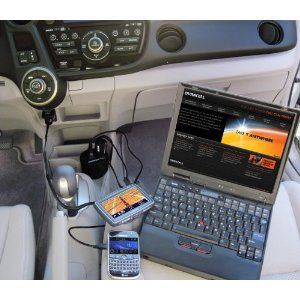 Cup Holder 130W Power Inverter with 2.1 Amp USB Port