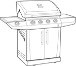 Hickory Cart BBQ Grill Cover