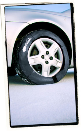 Tire Chain for Front Wheel Drive Car
