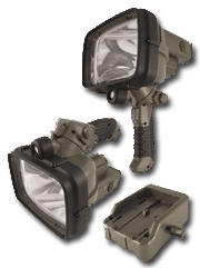 Military Grade Lithium-ion Rechargeable Searchlight with Docking Station