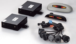 2 Front & 4 Rear Parking Sensor Kit with 2 Wired Displays