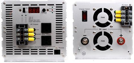 3000 Watt DC to AC Modified Sine Wave 24 volt Inverter with charger and transfer switch