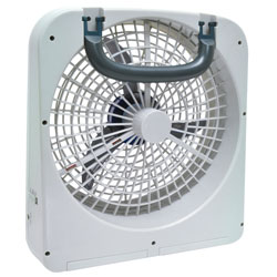 12-Volt or D Cell Batteries 10-inch Portable Fan