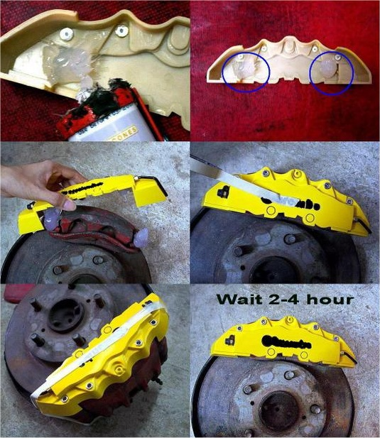 Installation of the Big Red Disc Brake Caliper Cover
