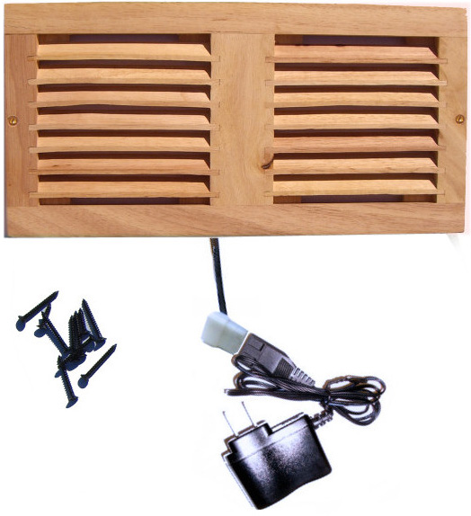 Dual Fan Cooler Kit with Wood Grill for Cabinet / Home Theater