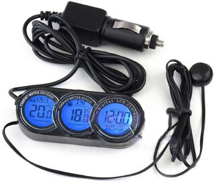 LCD Car In /Out Thermometer And Calendar Clock