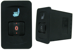 Single Seat Heater Kit with Illuminated 5-Position Thumb Dial Switch