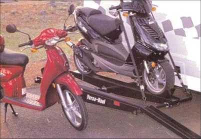 2 / Double Motorcycle Hitch Carrier with Ramp