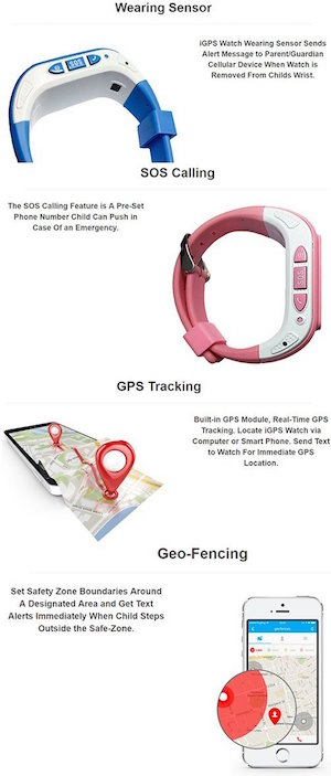 Kids Wrist Watch Phone with Two-Way Calling and Real-time GPS Tracking / SOS Emergency Call