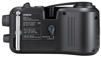 Sangean MMR-77 AM/FM Emergency Radio with Dynamo Power