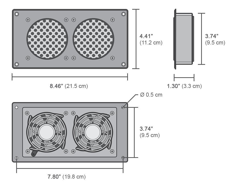 quiet cooling fan system