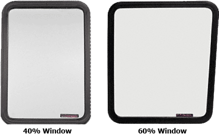 Window for Side Hinged Door for Ford Vans