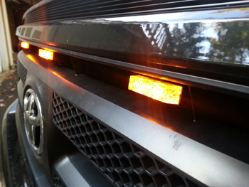 Amber Grill Mount LED Lights with Clip
