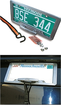 License Plate Trunk Cleat