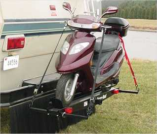 Single Motorcycle Hitch Carrier