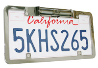 License Plate Camera with Silver Metal Frame