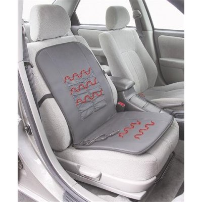 Black Deluxe 12 Volt Car Heated Seat Cushion