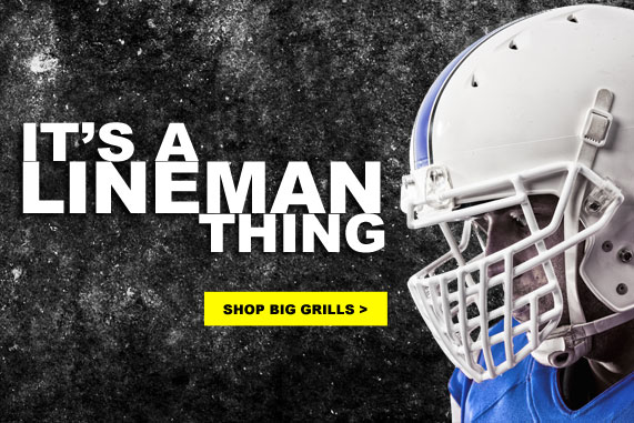 Intimidate. Shop Big Grills