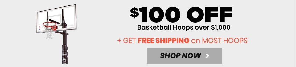 $100 Off Basketball Hoops over $999