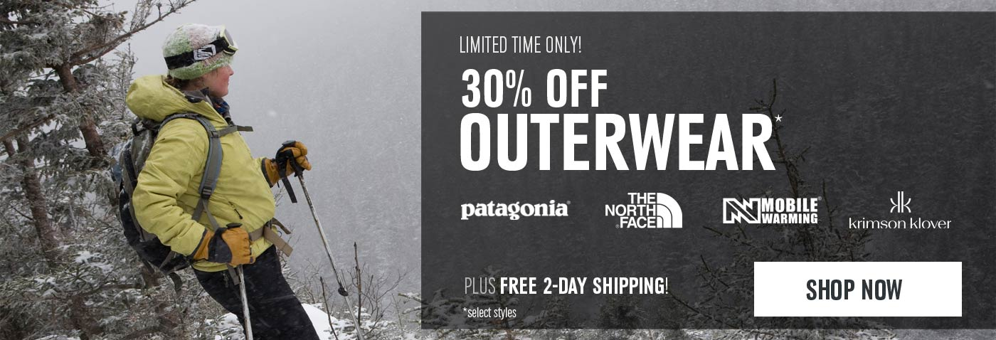 Up to 30% Off Outerwear - Shop Now