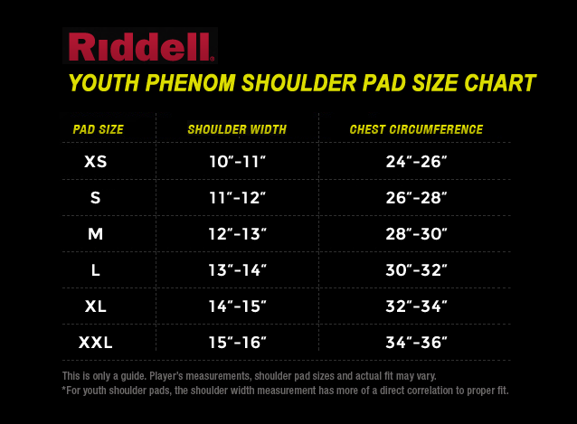 Riddell-Youth-Phenom-Size-Chart png