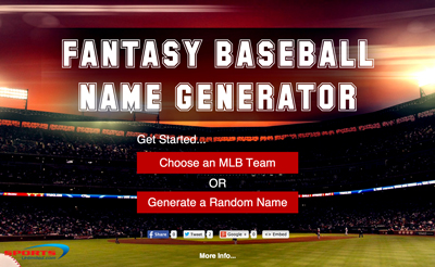 Fantasy Baseball  Name Generator