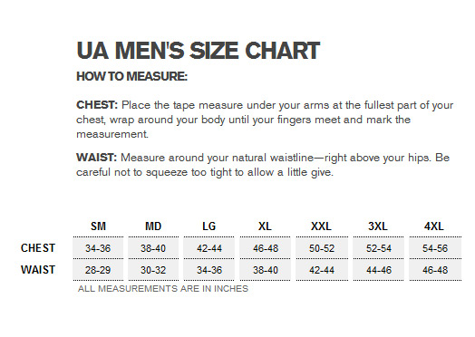 Under Armour Baseball Pants Size Chart