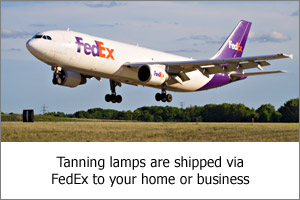 Tanning Lamps Shipped via FedEx