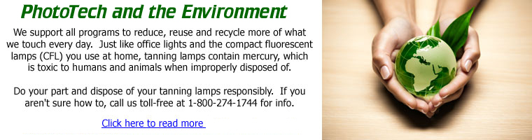 SunMaster and the Environment.  Click for more info.