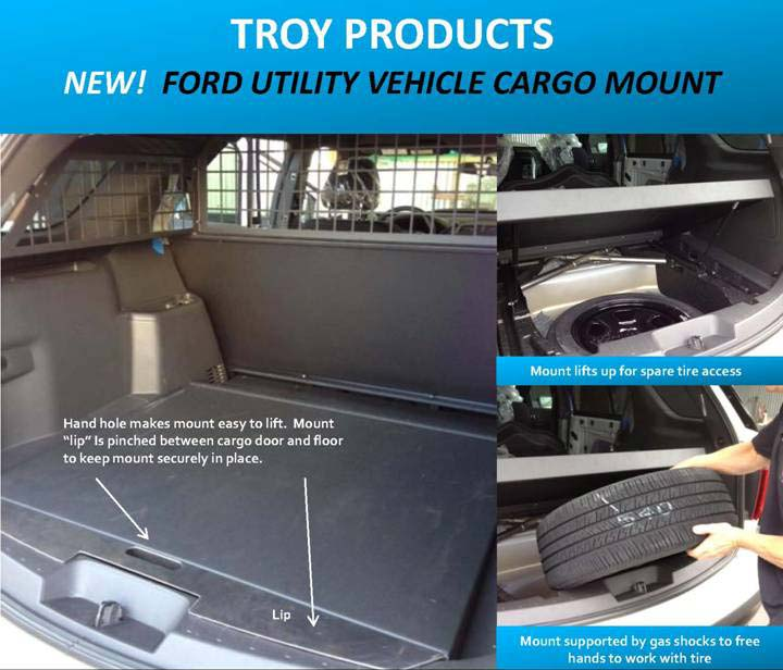 Ford Police Interceptor Utility Vehicle Cargo Mount