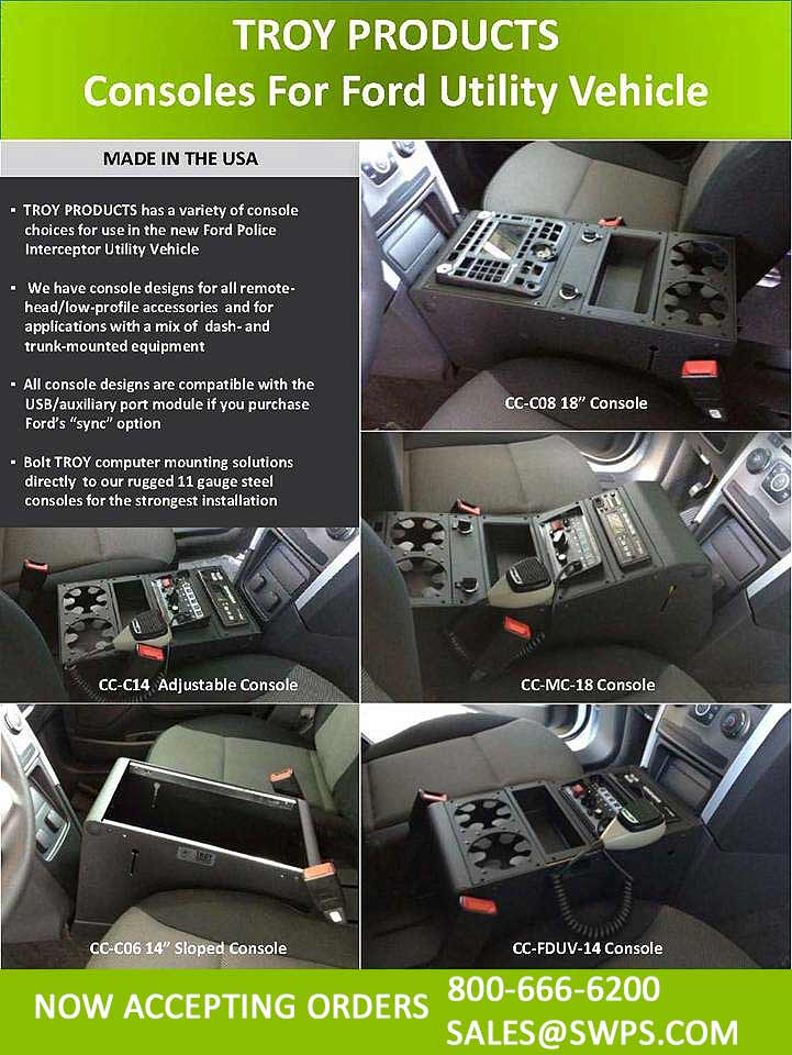 Ford Police Interceptor Utility Vehicle Consoles