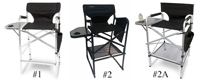 Charmant Tall Aluminum Director Chairs