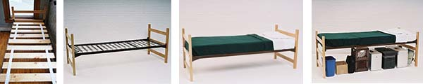extra long twin beds with wood slats are in stock and available for immediate shipping - Dorm Bed Frame