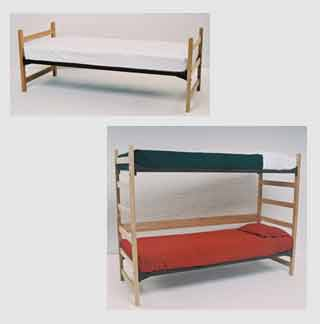 Extra Long Stackable Single Bunk Beds