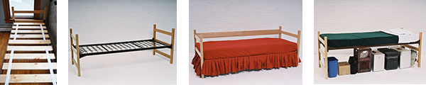 extra long twin beds with wood slats are in stock and available for immediate shipping