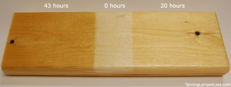 Aging wood with UV cure lamps