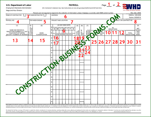 WH-347/348 - In-Depth Instructions For How To Fill In This Form