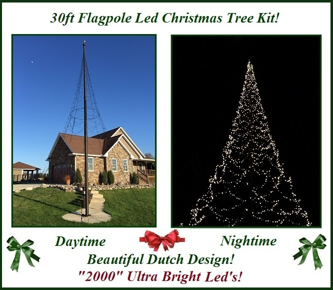 font color=darkblue><i><h2>30ft<br>Christmas Tree<br>Flagpole ...