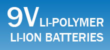 9V lithium-ion batteries