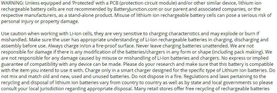 lithium-ion safety warning