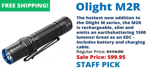 Olight M2R Rechargeable LED Flashlight