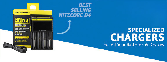 Nitecore D4 Charger Banner