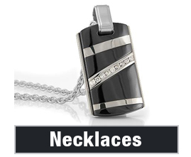 Mens Black Titanium Necklaces