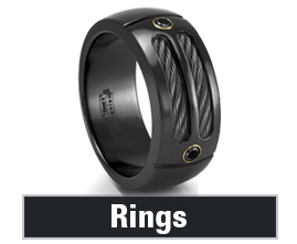 Mens Black Titanium Rings