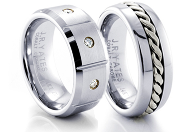 mens cobalt rings - Cobalt Wedding Rings