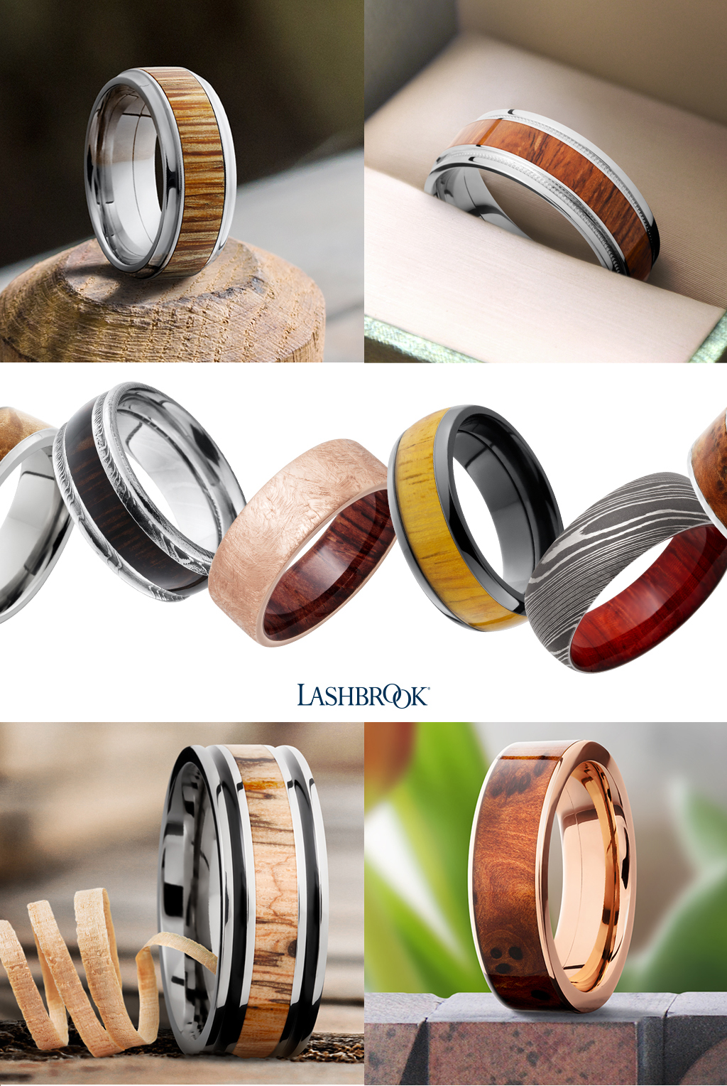 Hard Wood Rings at Titanium-Jewelry.com