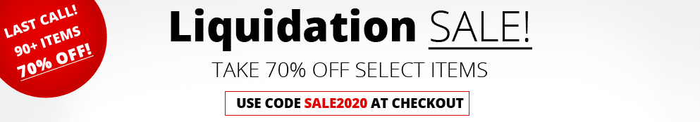 Liquidation Sale - 70% OFF!